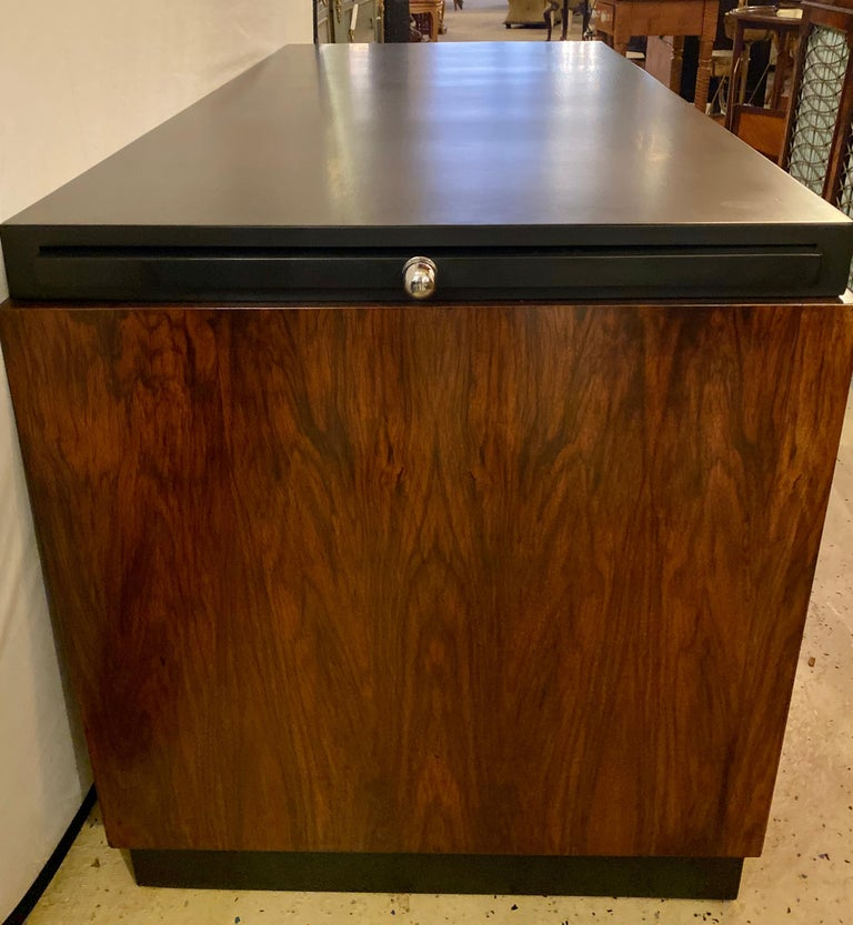 Gilbert Rohde Art Deco Ebony Top Mid-Century Modern Desk or Writing Table For Sale 9