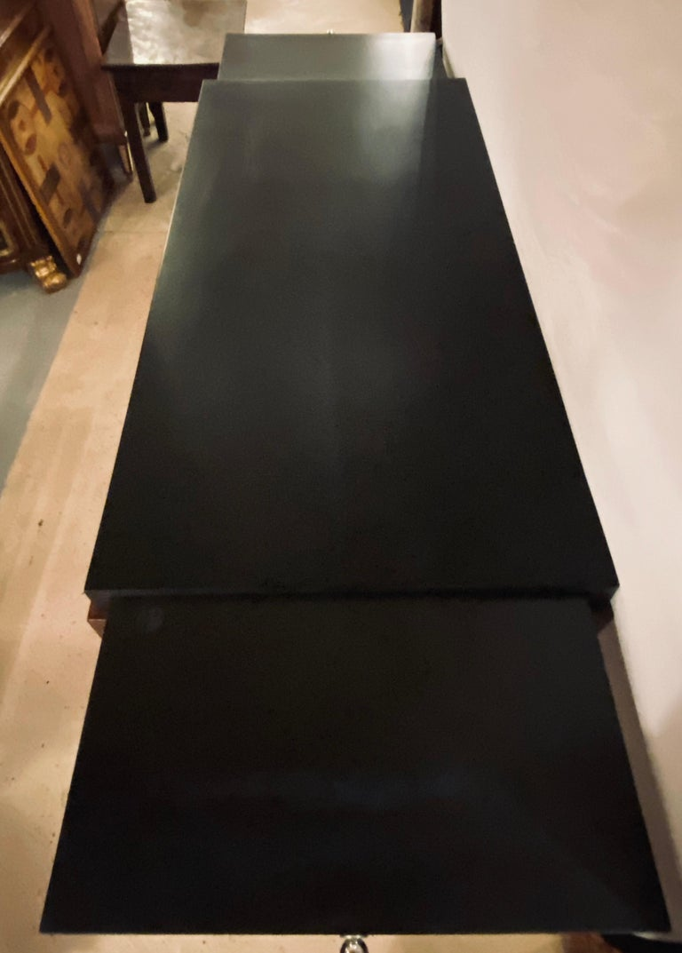 Gilbert Rohde Art Deco Ebony Top Mid-Century Modern Desk or Writing Table For Sale 1