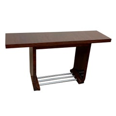 Gilbert Rohde Art Deco Flip-Top Dining Console Table for Herman Miller