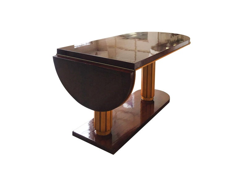 Gilbert Rohde Art Deco Oval Drop-Leaf Desk In Good Condition For Sale In New York, NY