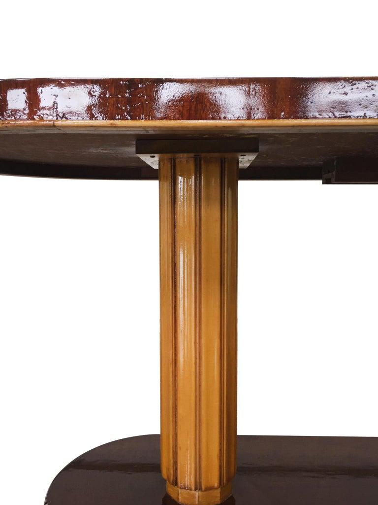 Mid-20th Century Gilbert Rohde Art Deco Oval Drop-Leaf Desk For Sale