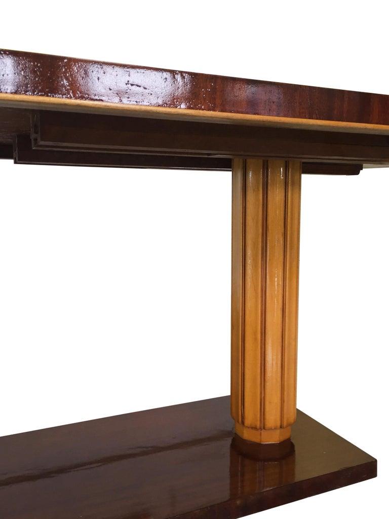 Beech Gilbert Rohde Art Deco Oval Drop-Leaf Desk For Sale