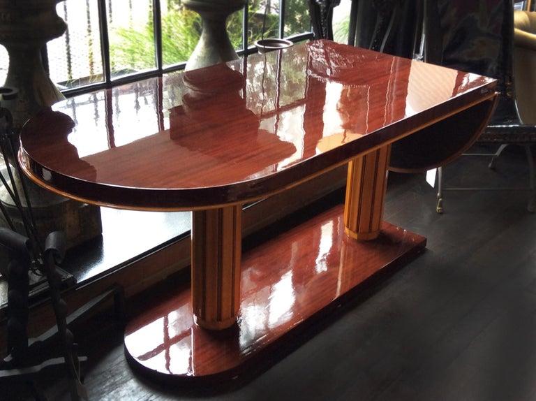 Gilbert Rohde Art Deco Oval Drop-Leaf Desk For Sale 1