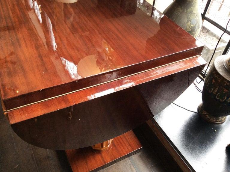 Gilbert Rohde Art Deco Oval Drop-Leaf Desk For Sale 2