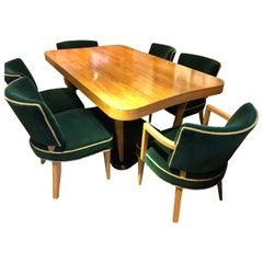 "Gilbert Rohde Art Deco ""Paldao"" Dining Room Set for Herman Miller 10 Pieces Comp"