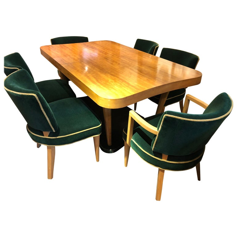 """Gilbert Rohde Art Deco """"Paldao"""" Dining Room Set for Herman Miller 10 Pieces Comp For Sale"""