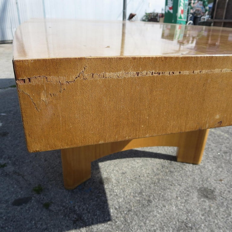 Gilbert Rohde Dining Table for Herman Miller, 1939 In Fair Condition For Sale In North Hollywood, CA
