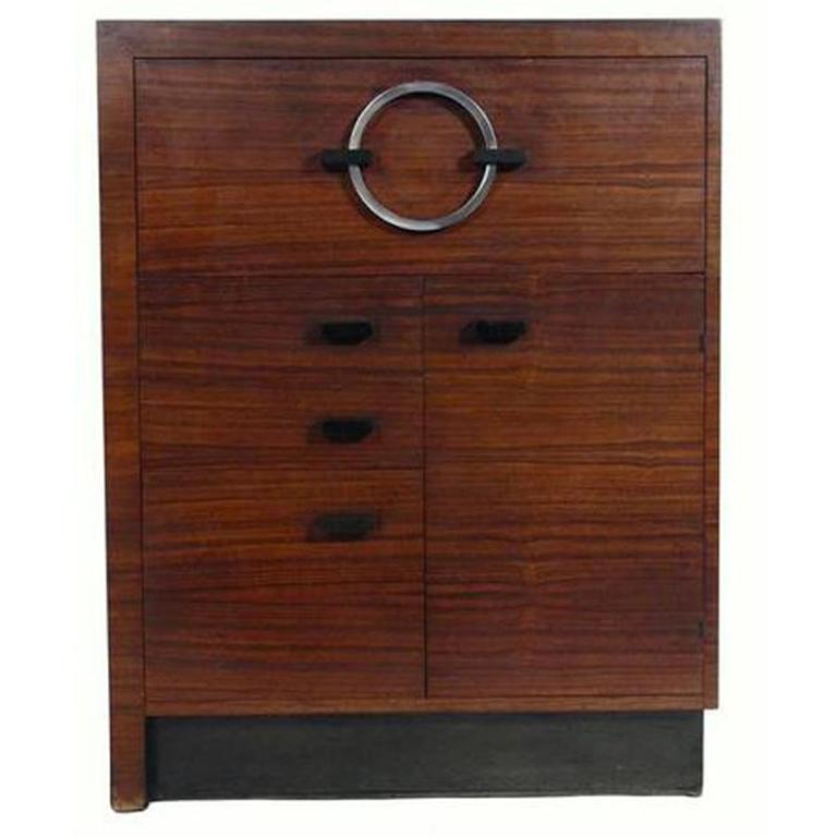 Gilbert Rohde East Indian Laurel Cabinet or Secretary For Sale