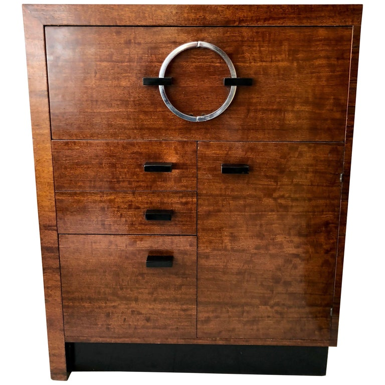 Gilbert Rohde East Indian Laurel Secretary Cabinet For Sale