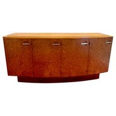 Gilbert Rohde for Herman Miller Art Deco Burl Mahogany Sideboard Buffet