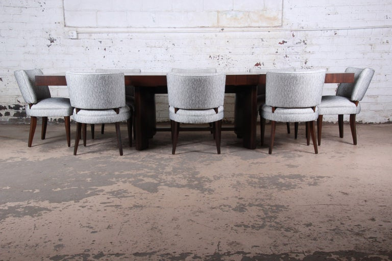 Gilbert Rohde for Herman Miller Art Deco Dining Chairs, Fully Restored For Sale 4