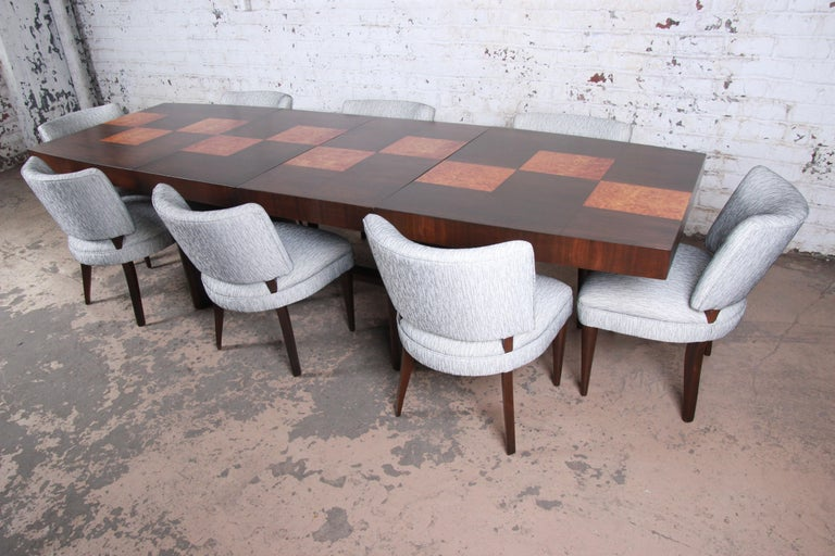 Gilbert Rohde for Herman Miller Art Deco Dining Chairs, Fully Restored For Sale 5