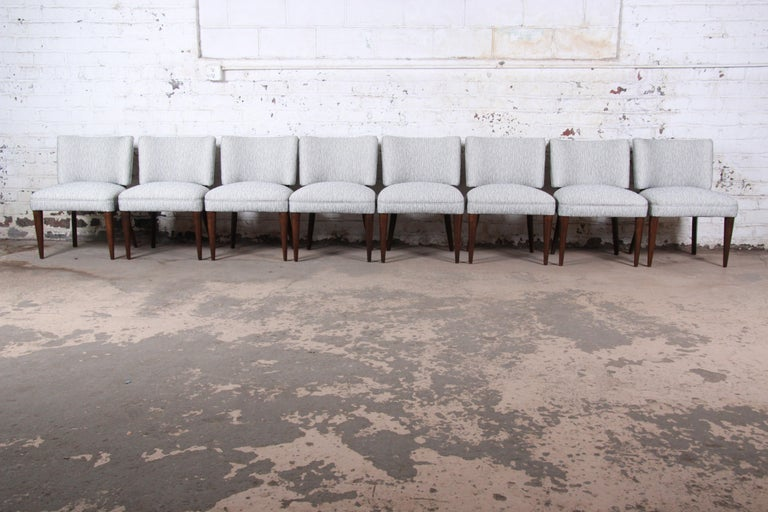 An extremely rare and exceptional set of eight Art Deco dining chairs  By Gilbert Rohde for Herman Miller