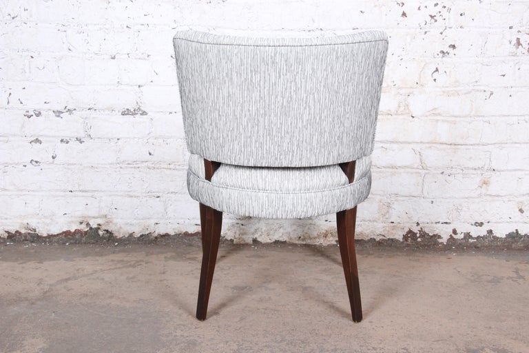 Upholstery Gilbert Rohde for Herman Miller Art Deco Dining Chairs, Fully Restored For Sale