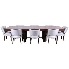 Gilbert Rohde for Herman Miller Art Deco Dining Set, Fully Restored