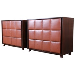 Gilbert Rohde for Herman Miller Bachelor Chests or Large Nightstands, Restored