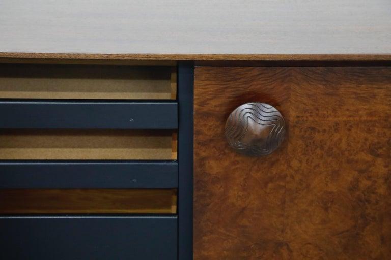Gilbert Rohde for Herman Miller 'Paldao' Burl Dresser Cabinet, 1940s, Signed For Sale 4