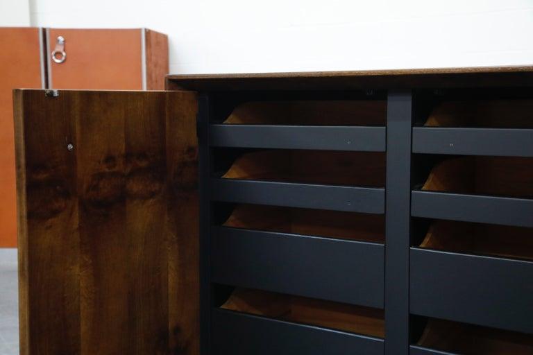 Gilbert Rohde for Herman Miller 'Paldao' Burl Dresser Cabinet, 1940s, Signed For Sale 5