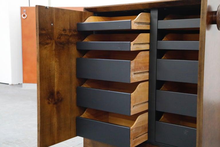 Gilbert Rohde for Herman Miller 'Paldao' Burl Dresser Cabinet, 1940s, Signed For Sale 6