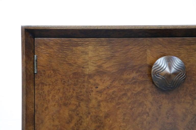 Gilbert Rohde for Herman Miller 'Paldao' Burl Dresser Cabinet, 1940s, Signed For Sale 9