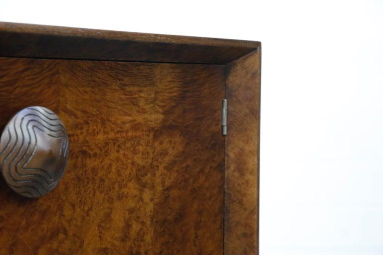 Gilbert Rohde for Herman Miller 'Paldao' Burl Dresser Cabinet, 1940s, Signed For Sale 10