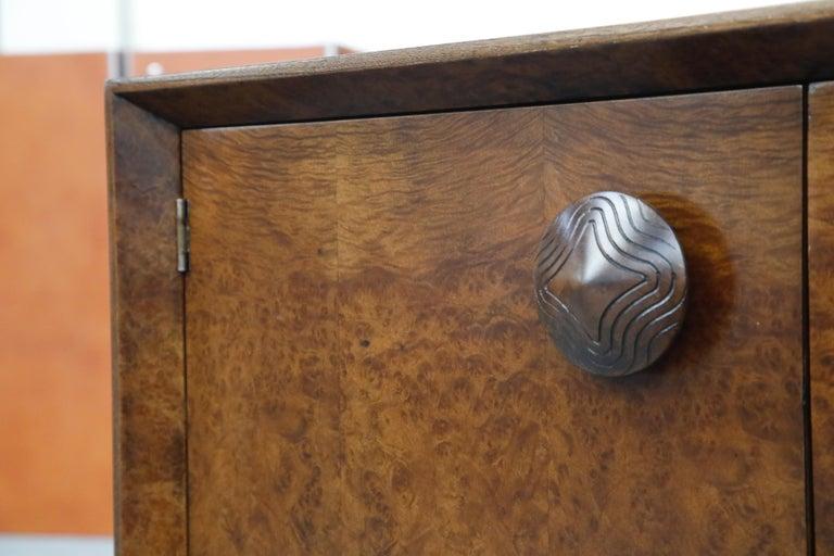 Gilbert Rohde for Herman Miller 'Paldao' Burl Dresser Cabinet, 1940s, Signed For Sale 11