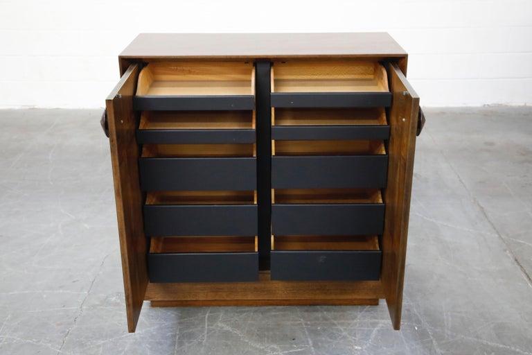 American Gilbert Rohde for Herman Miller 'Paldao' Burl Dresser Cabinet, 1940s, Signed For Sale