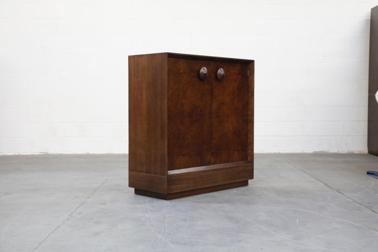 Gilbert Rohde for Herman Miller 'Paldao' Burl Dresser Cabinet, 1940s, Signed In Excellent Condition For Sale In Los Angeles, CA