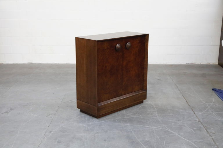 Mid-20th Century Gilbert Rohde for Herman Miller 'Paldao' Burl Dresser Cabinet, 1940s, Signed For Sale
