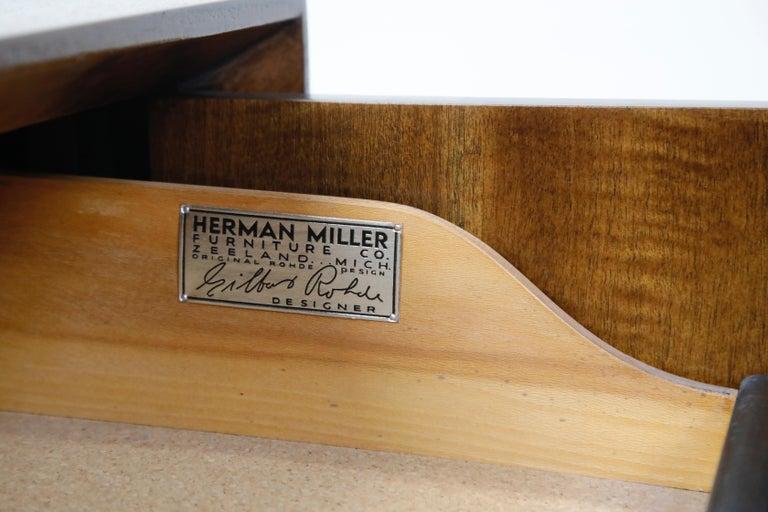 Gilbert Rohde for Herman Miller 'Paldao' Burl Dresser Cabinet, 1940s, Signed For Sale 2