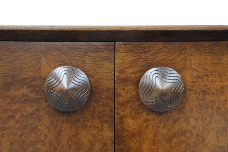 Gilbert Rohde for Herman Miller 'Paldao' Burl Dresser Cabinet, 1940s, Signed For Sale 3
