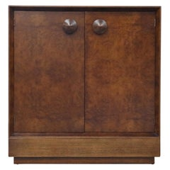 Gilbert Rohde for Herman Miller 'Paldao' Burl Dresser Cabinet, 1940s, Signed