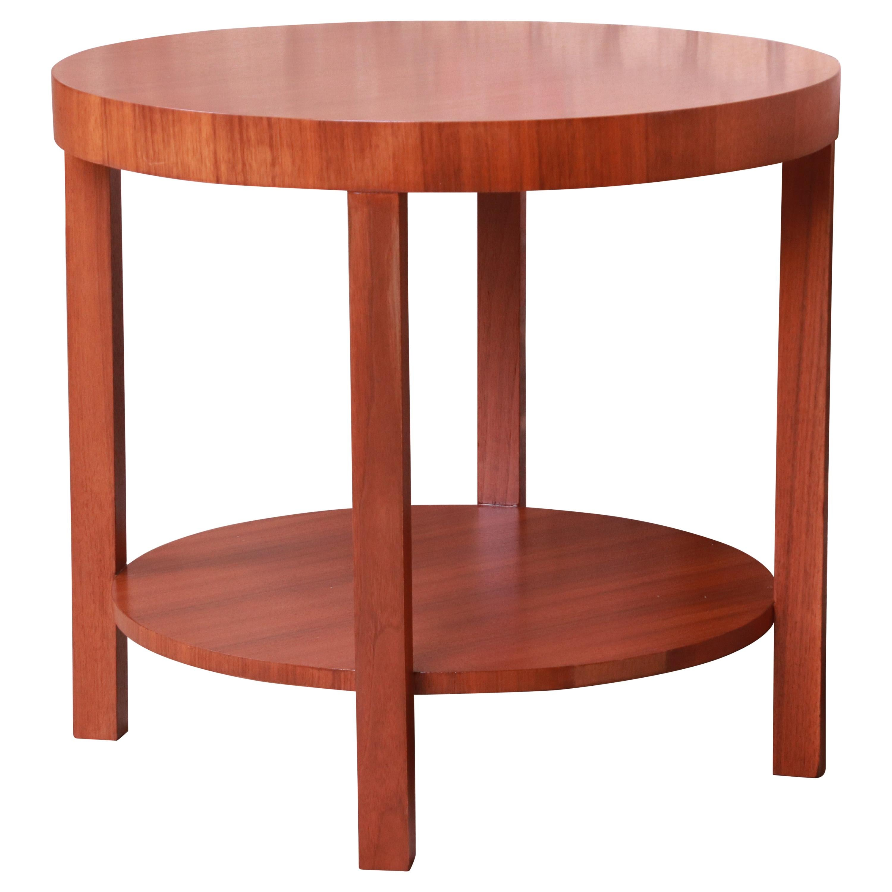 Gilbert Rohde for Herman Miller Walnut Occasional Side Table, Newly Refinished