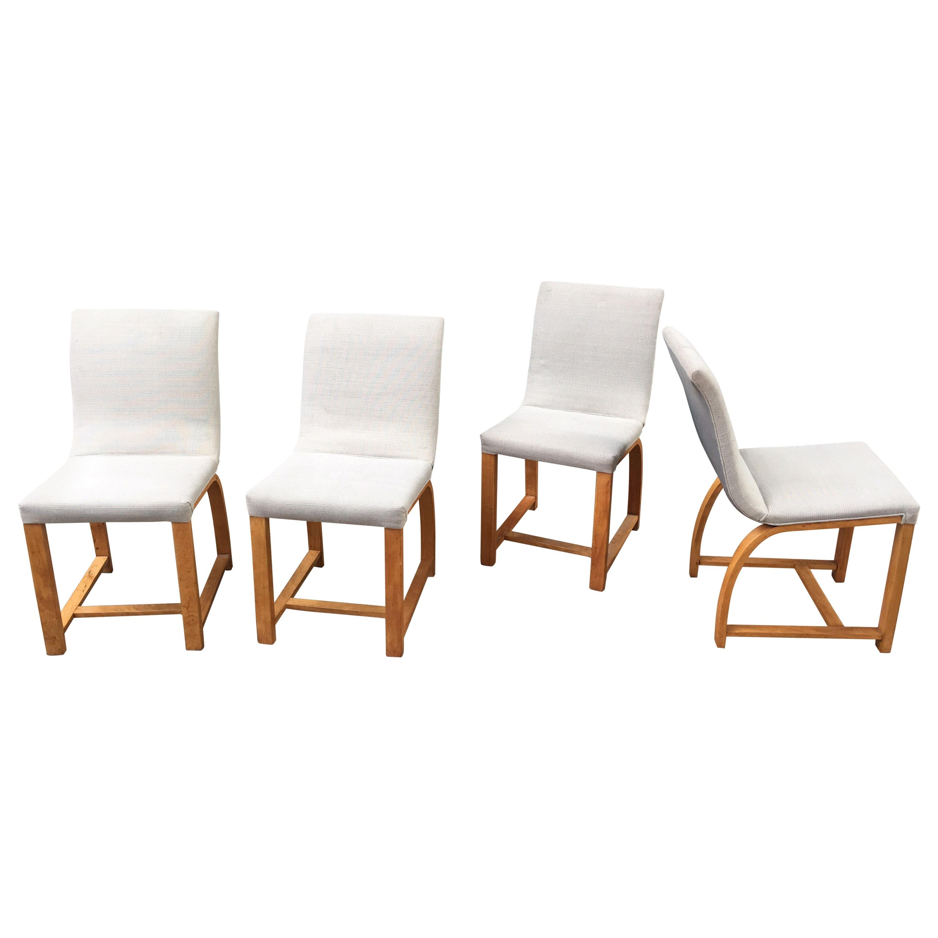 Gilbert Rohde for Heywood Wakefield Set of 4 Dining Chairs