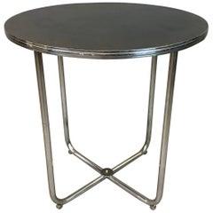 Gilbert Rohde for Troy Sunshade Art Deco Tubular Chrome Café Dining Table