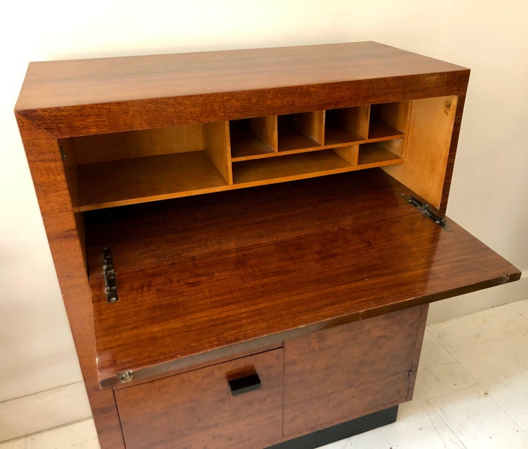 American Gilbert Rohde East Indian Laurel Secretary Cabinet For Sale