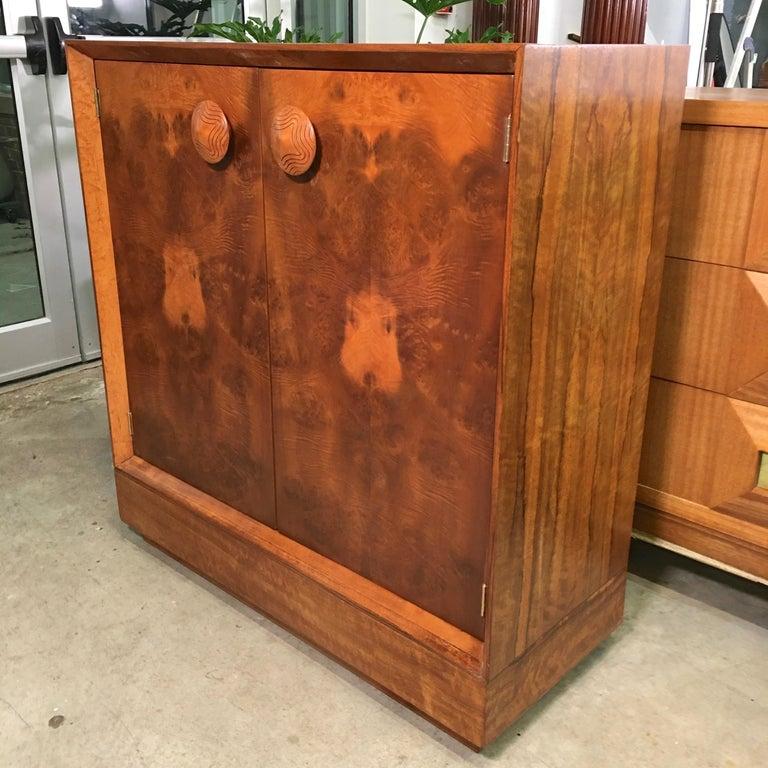 Veneer Gilbert Rohde Paldao Cabinet for Herman Miller For Sale