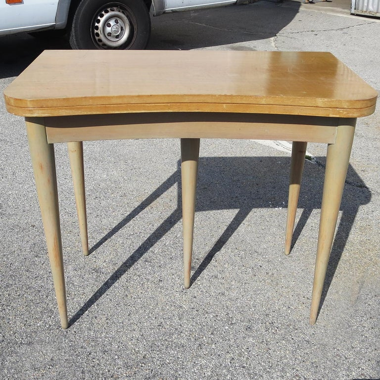 Wood Gilbert Rohde Paldao Expanding Console Table For Sale