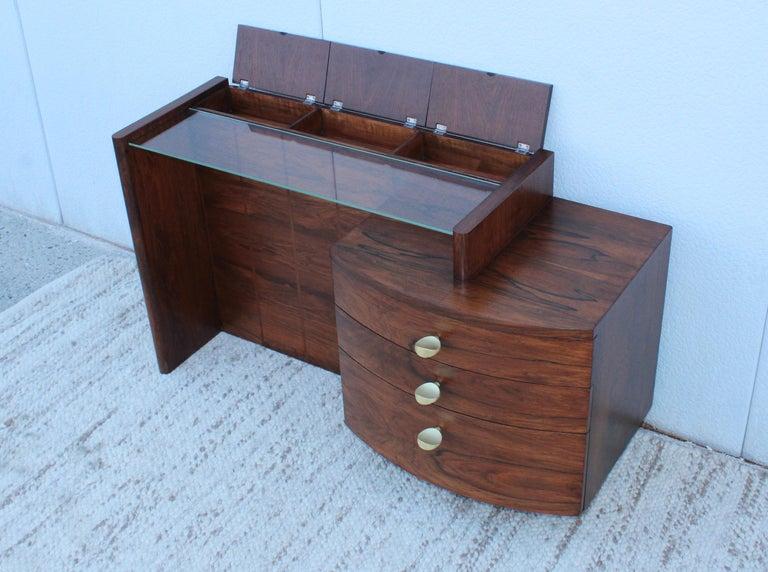 Gilbert Rohde Rosewood Vanity For Sale 4
