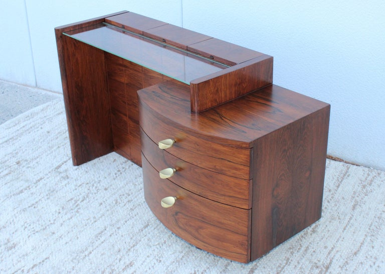 Gilbert Rohde Rosewood Vanity In Good Condition For Sale In New York City, NY
