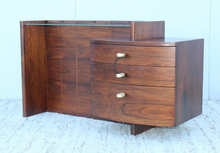 Art Deco Gilbert Rohde Rosewood Vanity For Sale