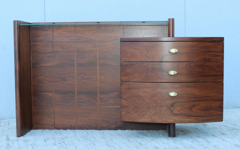20th Century Gilbert Rohde Rosewood Vanity For Sale