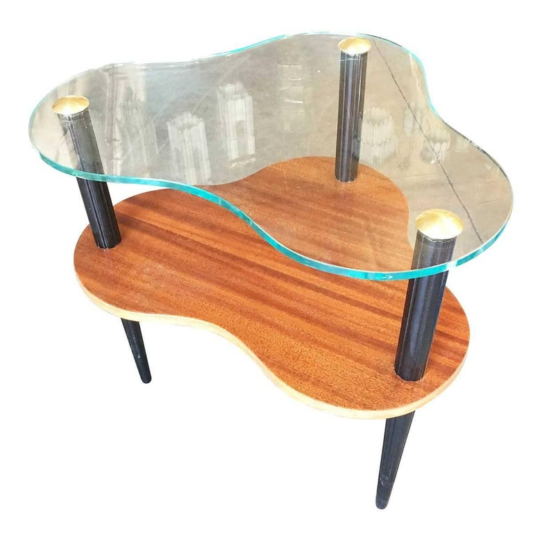 Gilbert Rohde Two-Tier Mid-Century Cloud Coffee Table