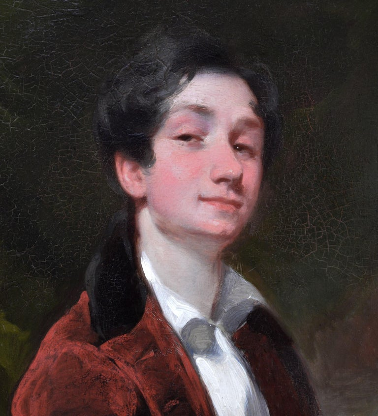 Aristocratic Georgian Boy - Late 18th Century Portrait Oil Painting 1
