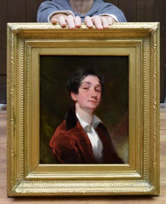 Aristocratic Georgian Boy - Late 18th Century Portrait Oil Painting