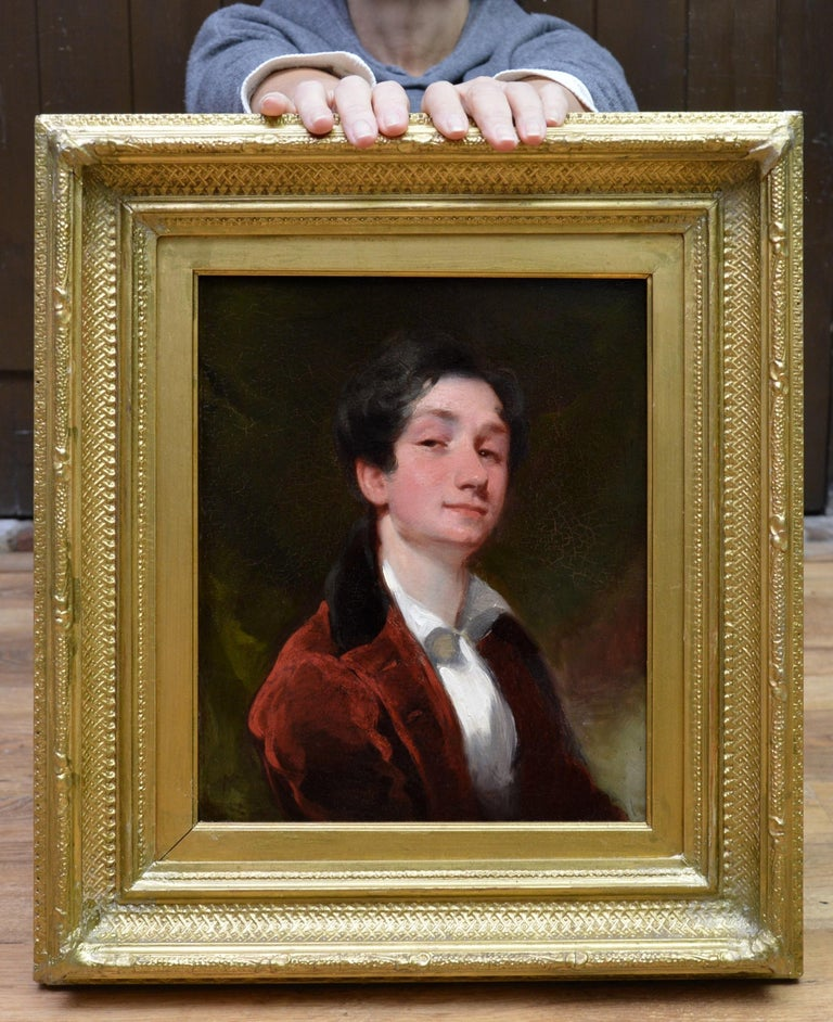 Gilbert Stuart Portrait Painting - Aristocratic Georgian Boy - Late 18th Century Portrait Oil Painting