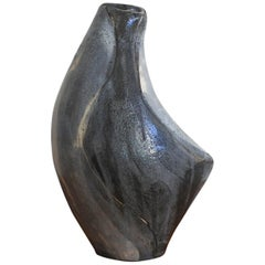 Gilbert Valentin Early Ceramic Vase, Les Archanges, Vallauris 1950s