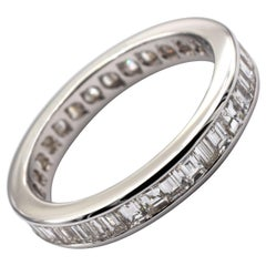 Gilberto Cassola Baguette Diamonds White Gold Eternity Ring Made in Italy