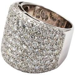 Gilberto Cassola Diamond Paveè White Gold Ring Made in Italy