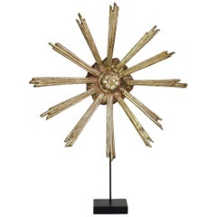 Gilded 18th Century Italian Baroque Carved Wooden Sun